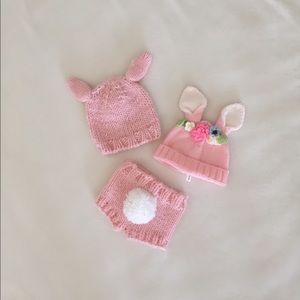 2 sets-  Easter Hats & bunny bottoms